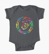 Bitcoin Farben Baby Body Kurzarm