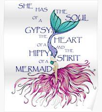 Gypsy Hippy Mermaid  Poster