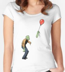 Sad Zombie  Women's Fitted Scoop T-Shirt