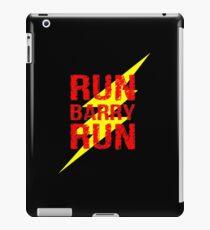 Run Barry run iPad Case/Skin