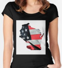 Wisconsin, U.S.A. Women's Fitted Scoop T-Shirt