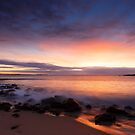 Shelly Beach on fire by Fran53