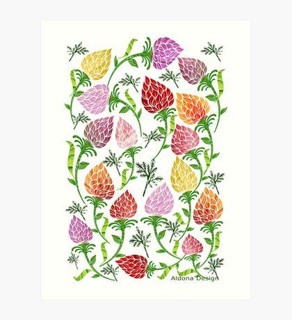 Floral pattern [528 Views] Art Print