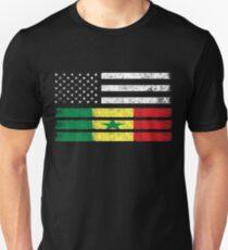 Senegalese American Flag - USA Senegal Shirt Unisex T-Shirt