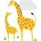 giraffe alphabet by creativemonsoon