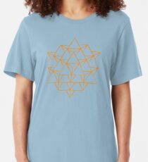64 sided tetrahedron  Slim Fit T-Shirt
