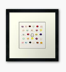 Laduree Macarons Flavor Menu Framed Print