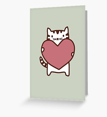 Cat's Heart Greeting Card