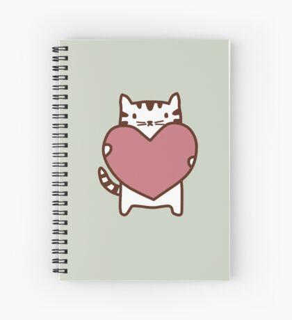 Cat's Heart Spiral Notebook
