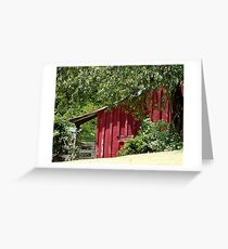 Historic Red Barn Greeting Card
