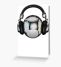 Headphone disco ball Greeting Card
