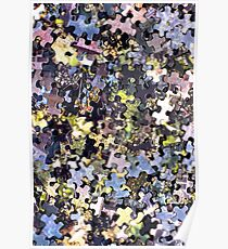 Puzzle Pieces Abstract Poster