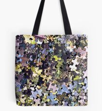 Puzzle Pieces Abstract Tote Bag