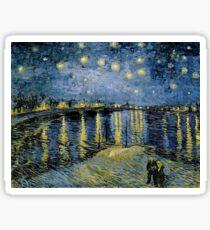 Vincent van Gogh - Starry Night on the Rhone (1888) Sticker