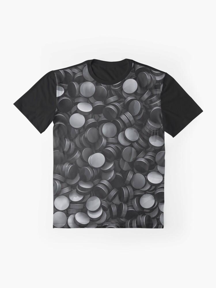 Alternate view of Hockey pucks Graphic T-Shirt