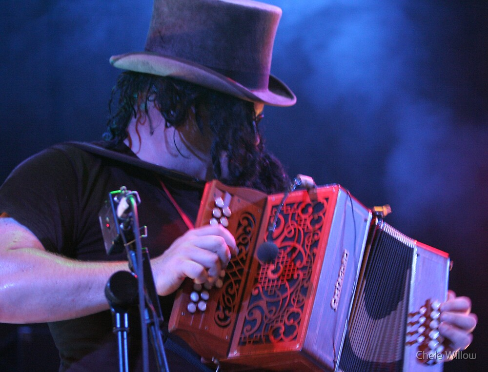 The Red Melodeon by Chele Willow