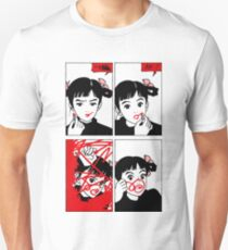 Anime Girl Red Lipstick Unisex T-Shirt