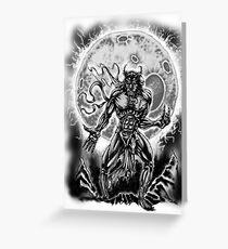 Raging Wolf Greeting Card