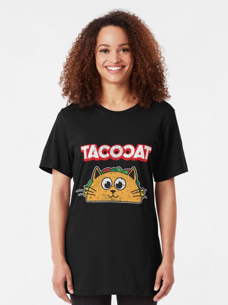 Alternative Ansicht von Tacocat Spelled backwards is Tacocat > Funny Taco & Cat Slim Fit T-Shirt