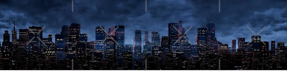 Night city panorama by GrandeDuc