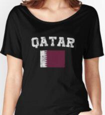 Qatari Flag Shirt - Vintage Qatar T-Shirt Women's Relaxed Fit T-Shirt