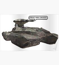 firing main cannon Poster