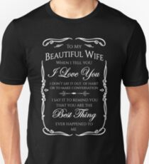 Best gift to Wife Say I Love You T-Shirt