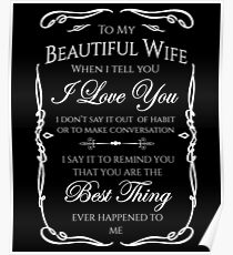Best gift to Wife Say I Love You Poster