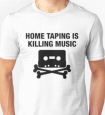 Home taping is killing music - hip hop cassette replica print T-Shirt