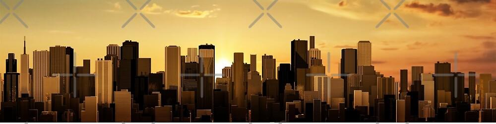 Sunrise-sunset city panorama by GrandeDuc