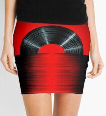 Vinyl sunset red Mini Skirt