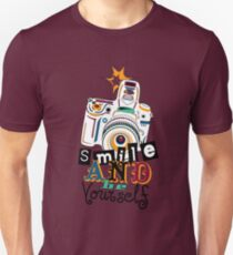 Smile and be Yourself - Colorful Camera T-Shirt