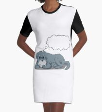 Ozzzy Thinking Graphic T-Shirt Dress