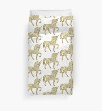 Gold leaf Unicorn | Mythical Creatures Duvet Cover