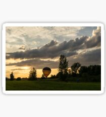 Summer Sunset with Balloons and Bicycles Sticker