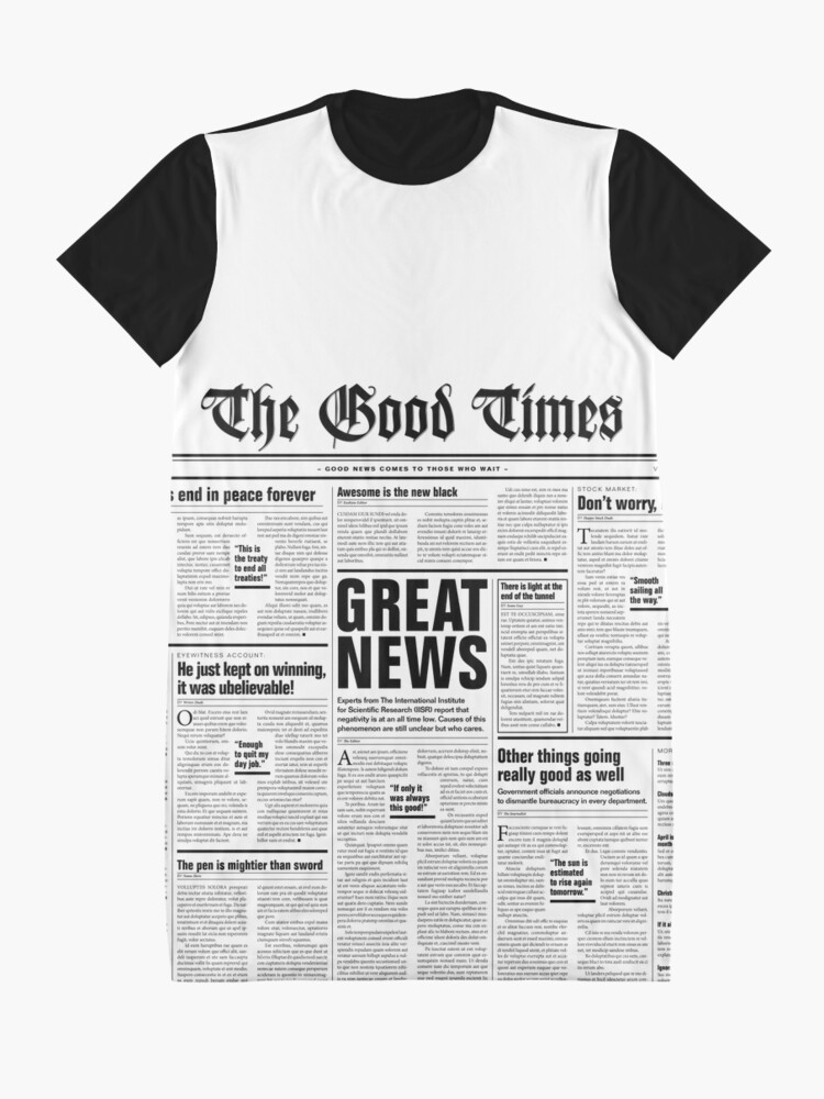 Alternate view of The Good Times Vol. 1, No. 1 Graphic T-Shirt Dress