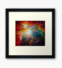 In the Beginning God Created Genesis 1 Framed Print