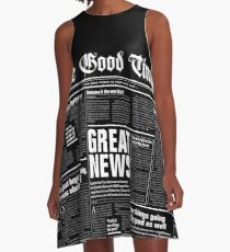 The Good Times Vol. 1, No. 1 REVERSED A-Line Dress