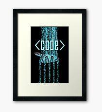 Code Framed Print
