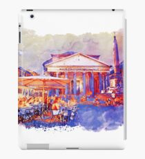 The Pantheon Rome Watercolor Streetscape iPad Case/Skin