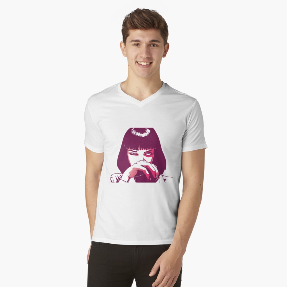 Mia Wallace T-Shirt mit V-Ausschnitt