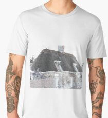 Thatched Cottage in Unique Design Men's Premium T-Shirt