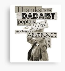 Dadaist Peptalk - Buffy Canvas Print