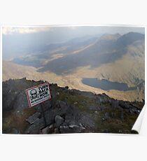 Carrauntoohil summit view Poster
