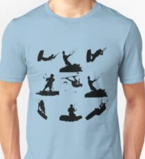 Wakeboarder Silhouette Collage T-Shirt