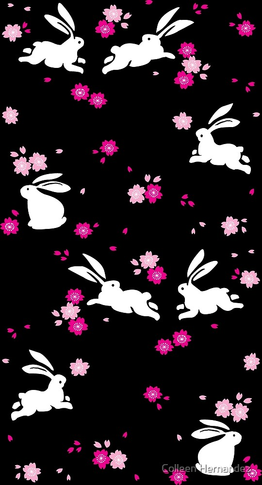 Japanese Bunny - Pink by Colleen Hernandez