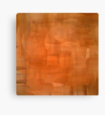 Brown Grunge Watercolor Background. Abstract Brown Pattern. Canvas Print