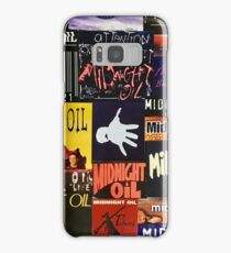 midnight oil fonts through the years Samsung Galaxy Case/Skin