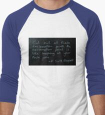 Exclamation Points - F Scott Fitzgerald Men's Baseball ¾ T-Shirt