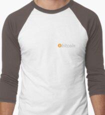 Camiseta ¾ bicolor para hombre Bolsillo Bitcoin